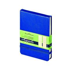 Блокнот Bruno Visconti Megapolis А6 100 листов синий в клетку на сшивке с фиксирующей резинкой (90х130 мм)