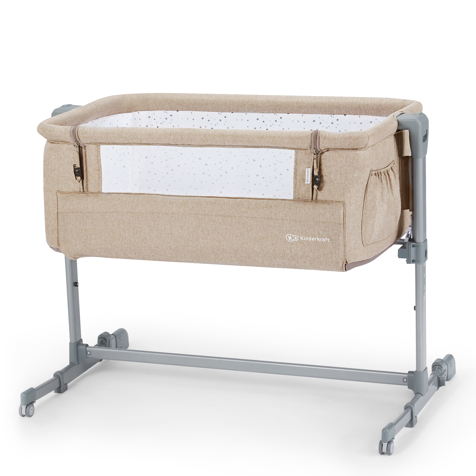 Кроватка приставная Kinderkraft Neste Up Beige Melange
