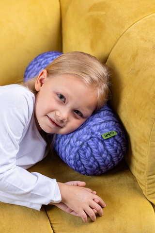 Валик-подушка «Вязаный валик», фиолетовая, антистресс-2
