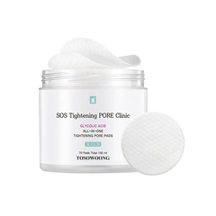 Очищающие пэды TOSOWOONG SOS TIghtening PORE Clinic All-In-One Tightening Pore Pads 70шт.