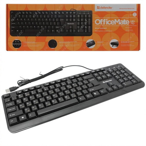 Клавиатура компьютерная Defender OfficeMate HM-710 USB black