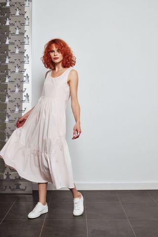 Margittes Платье невесомое однотонное с воланом