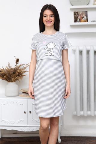 Сорочка для беременных и кормящих 12624 белый