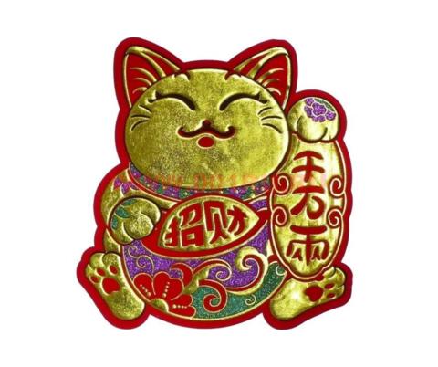 Наклейка Кошка Манеки Неко