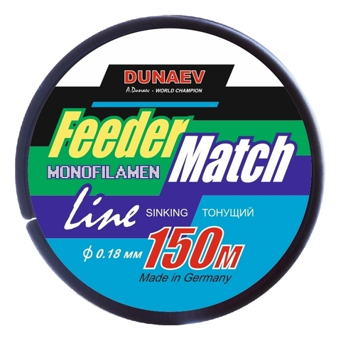 Леска Dunaev Feeder-Match Sinking Black 0.18мм 150м