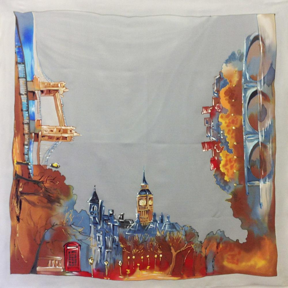 Шёлковый платок В Лондоне С-60