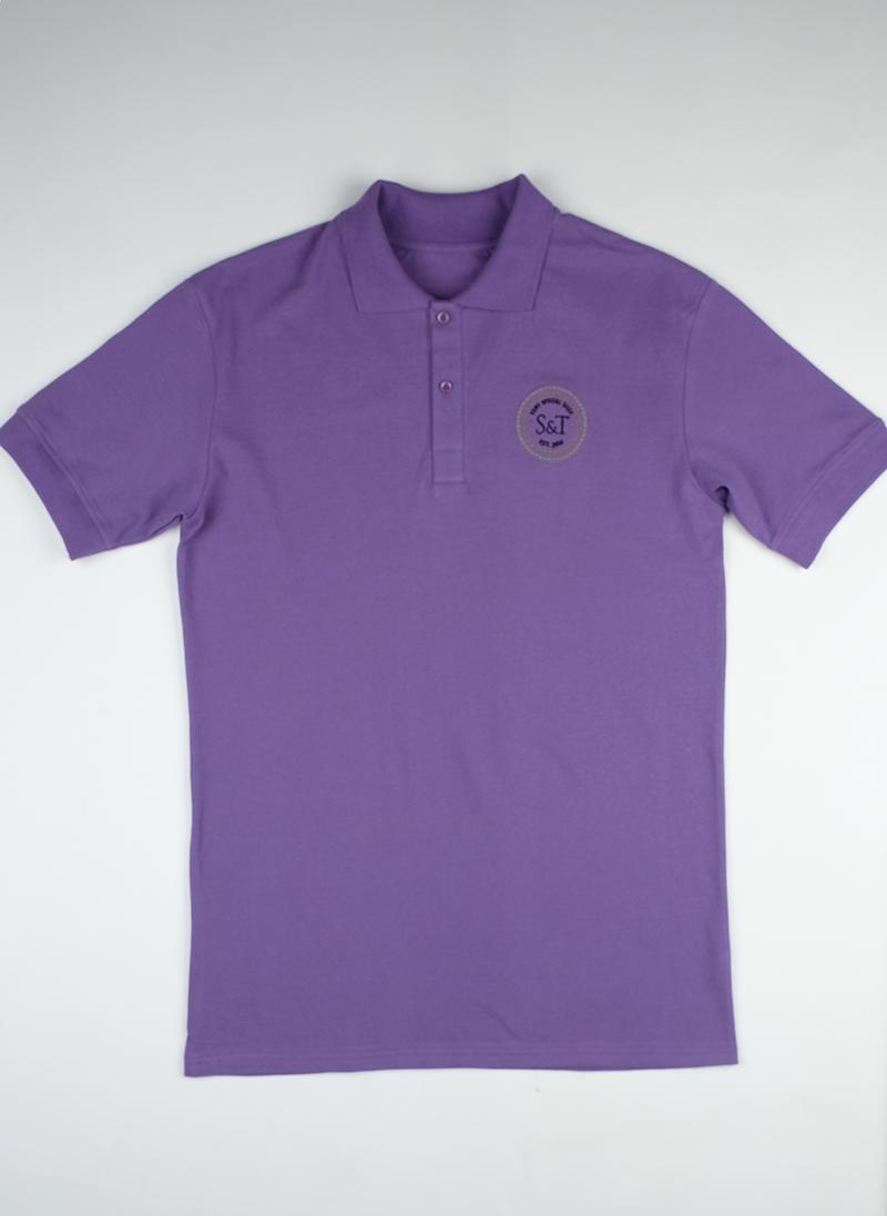Поло S&T slim fit violete1503
