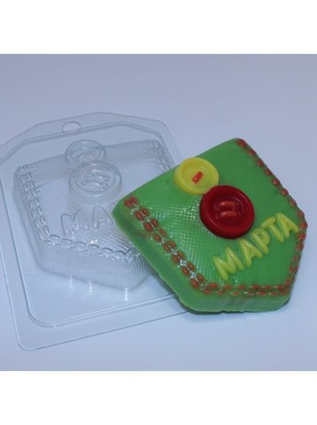 8 Марта / Кармашек, форма для мыла пластиковая