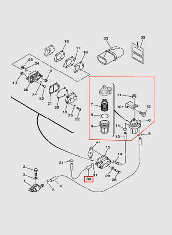 Шланг L170 для лодочного мотора T40 Sea-PRO (6-13/30)