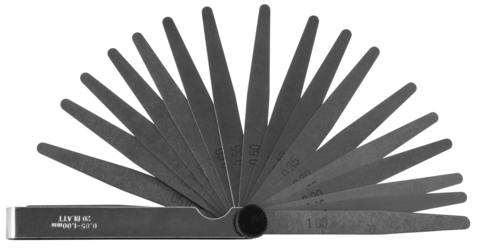 AI060020 Комплект щупов 20 пластин 0.05-1мм