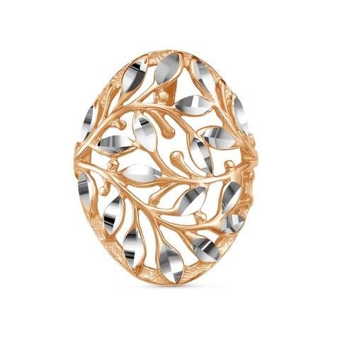 Подвеска с алмазной гранью и позолотой