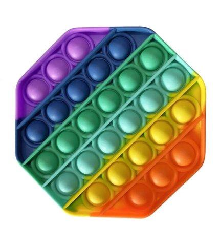 Антистресс игрушка Pop It, многоугольник радужный