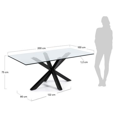 Стол Arya 200x100 стекло
