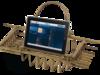 Полка-решетка на ванну с подставкой для планшета Migliore Complementi H29,5xL66-105xP19 cm ML.COM-50.171
