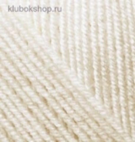 Пряжа Alize Superlana KLASIK 599 Слоновая кость фото