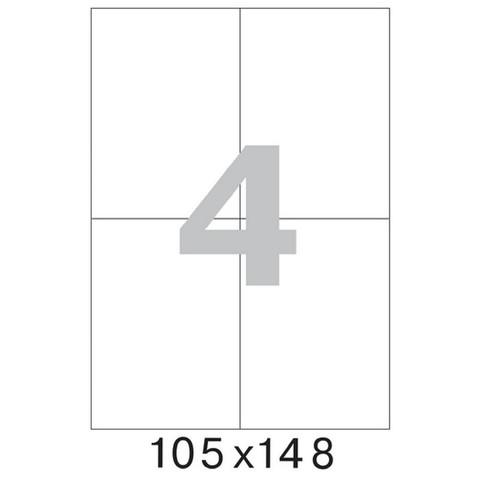 Этикетки самоклеящиеся Office Label эконом 105x148 мм белые (4 штуки на листе А4, 100 листов в упаковке)