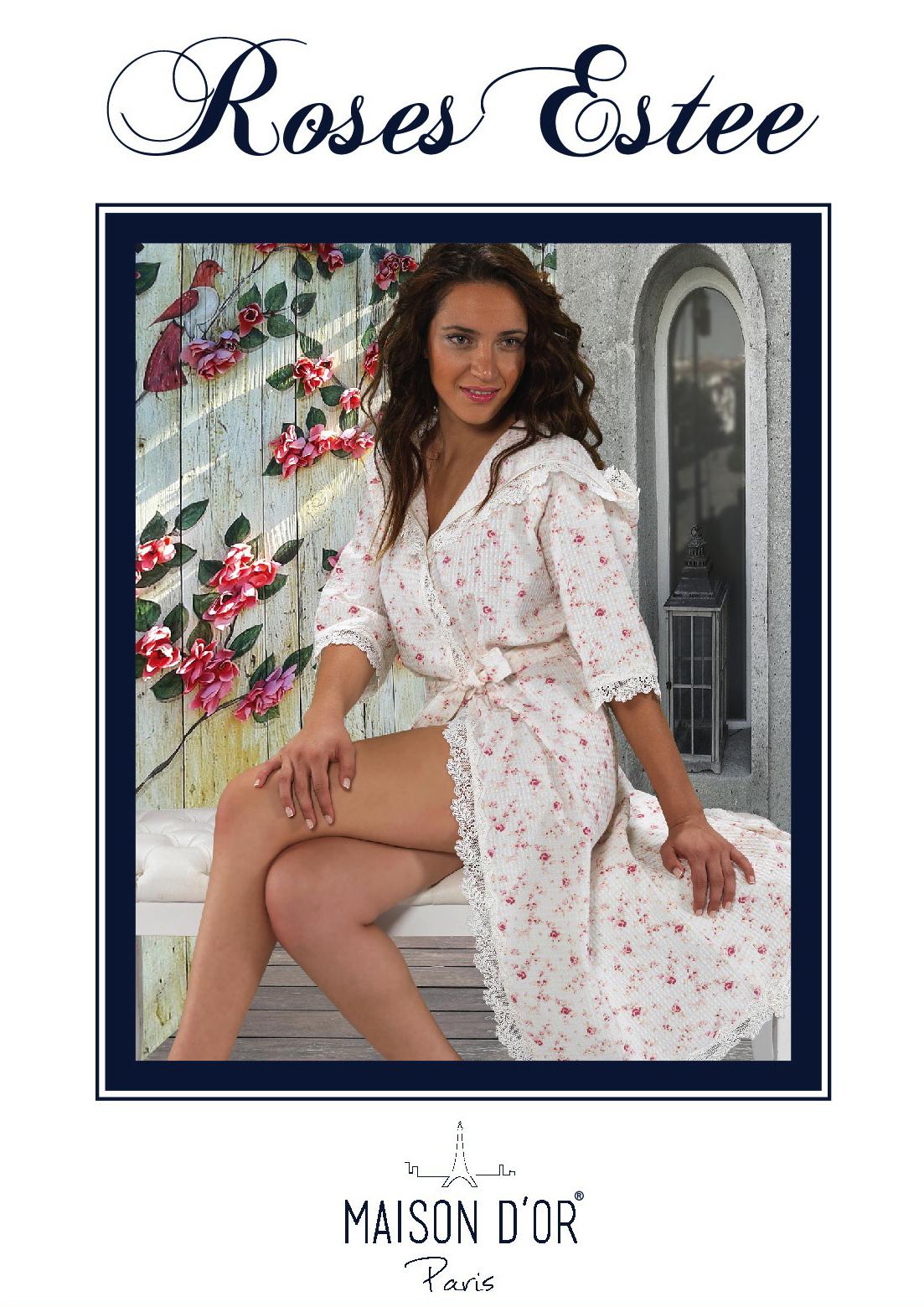 Легкие и вафельные халаты ROSES ESTEE - РОСЕС ЕСТИ женский вафельный  халат  Maison Dor Турция Roses_Estee-K.jpg
