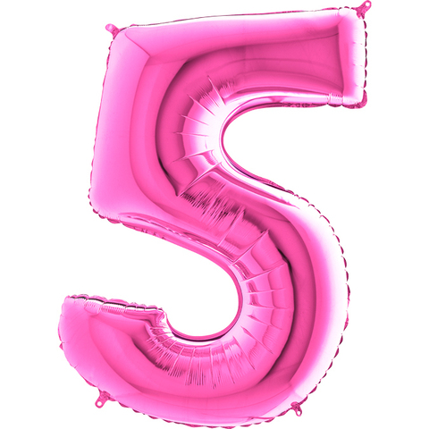 Цифра 5 (Розовая)