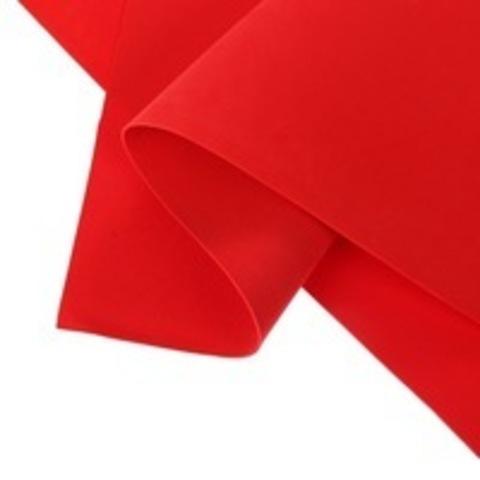 Фоамиран шёлковый 1мм, цвет красный №135, размер 60х70.