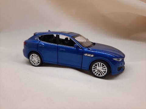 Металлическая Машина   Welly Maserati Levante  синяя