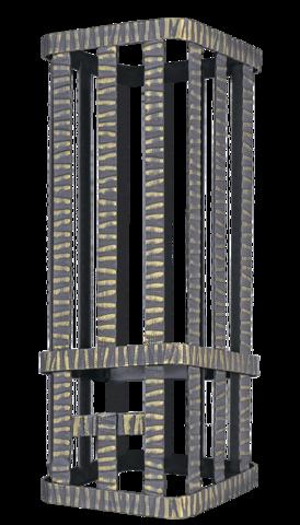 Сетка на трубу для Ураган 300х300х800 Гром 50 под шибер