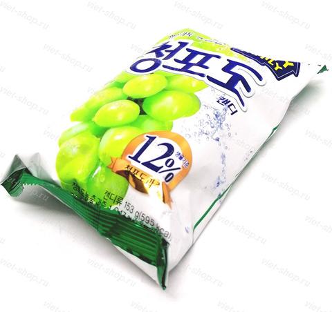 Карамель со вкусом винограда Green Grape Candy Lotte, 153 гр.