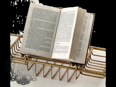 Полка-решетка на ванну с подставкой для книг Migliore Complementi H29,5xL66-105xP19 cm ML.COM-50.171