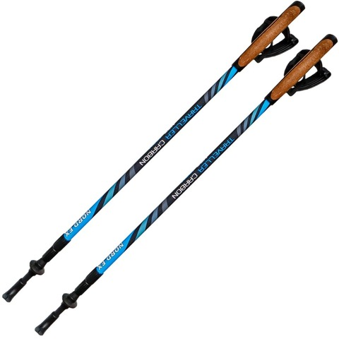 Скандинавские палки NORD.EX Traveller Carbon 100% XT3 Финляндия 3 сложения
