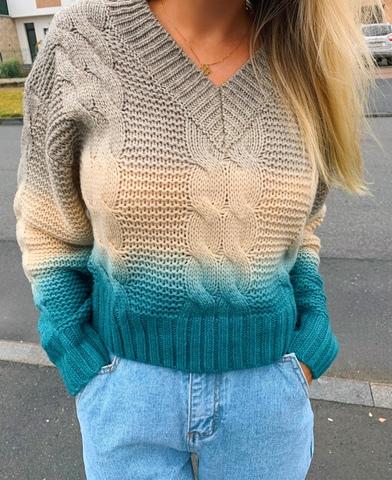 Вязаный свитер с градиентом