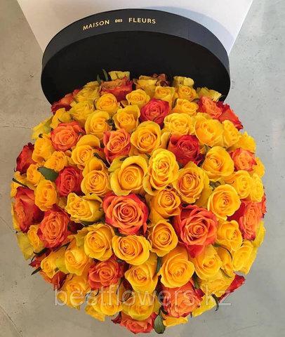 Коробка Maison Des Fleurs с розами 33