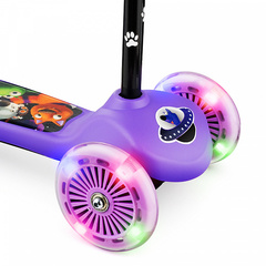 Детский самокат трёхколёсный (фиолетовый) - светящиеся колёса