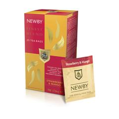 Чай Newby Finest Blend черный с манго и клубникой 25 пакетиков