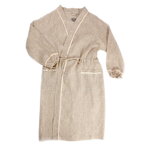 Халат для бани льняной женский ОННИ (размер 52-54)