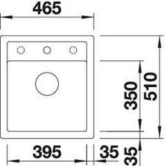 Мойка кухонная Blanco Dalago 45 Вид сверху