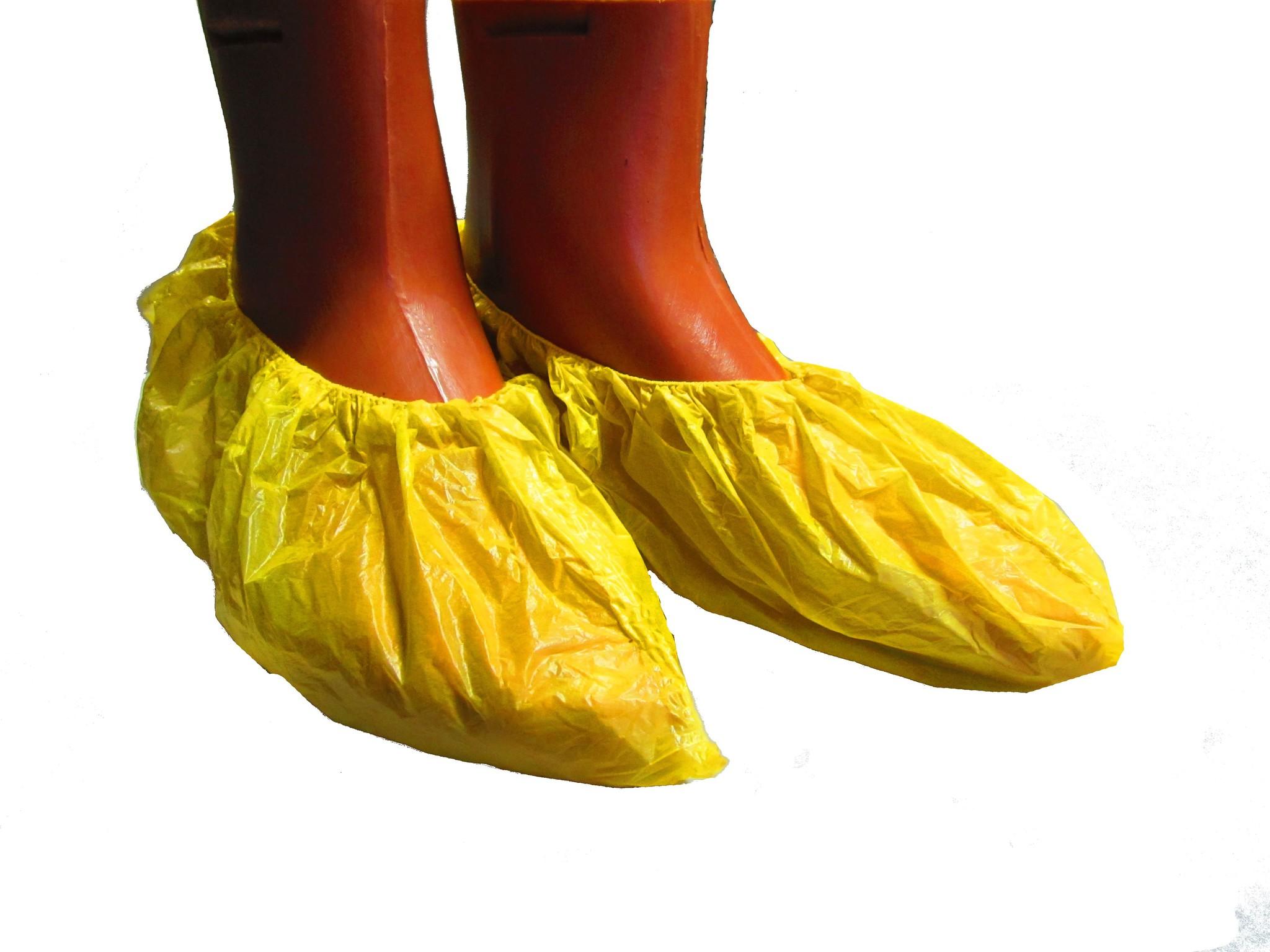 Бахилы ПНД, желтые