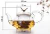"Стеклянный заварочный чайник ""Бабочка"" 450 мл"