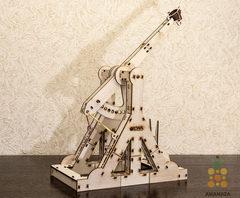 Требушет от EWA - деревянный конструктор, сборная модель, 3D пазл
