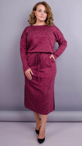 Леся. Оригінальна сукня для пишних жінок. Бордо.