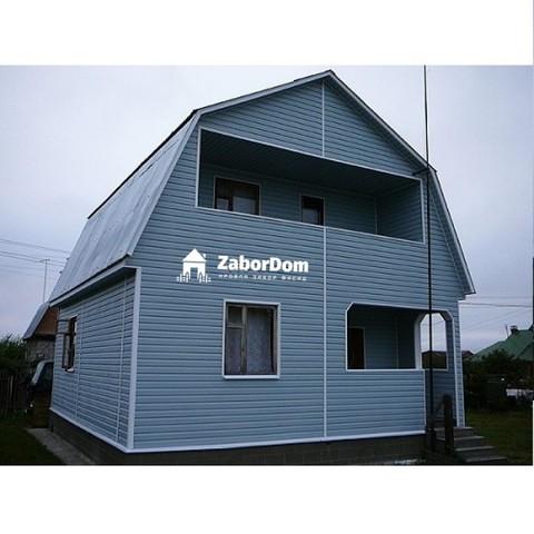 Сайдинг Ю пласт Корабельный брус голубой 3050х230 мм