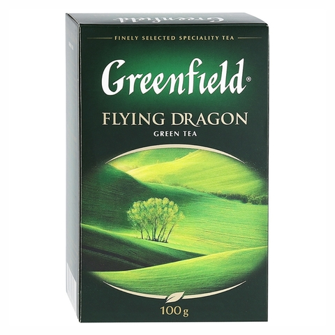 Чай GREENFIELD Зеленый Flying Dragon лист 100 гр РОССИЯ