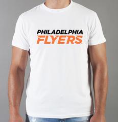 Футболка с принтом НХЛ Филадельфия Флайерз (NHL Philadelphia Flyers) белая 003