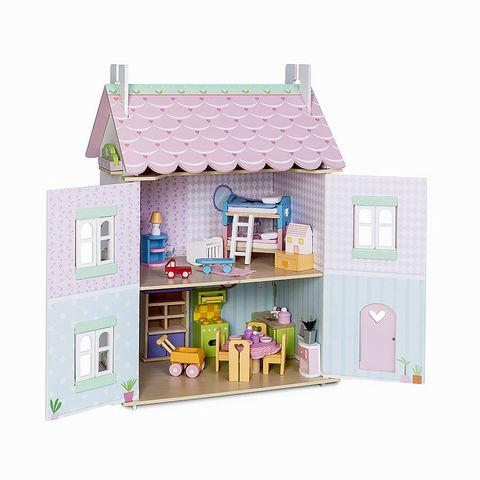 Le toy van. Кукольный домик Нежные сердечки, 32 эл. мебели