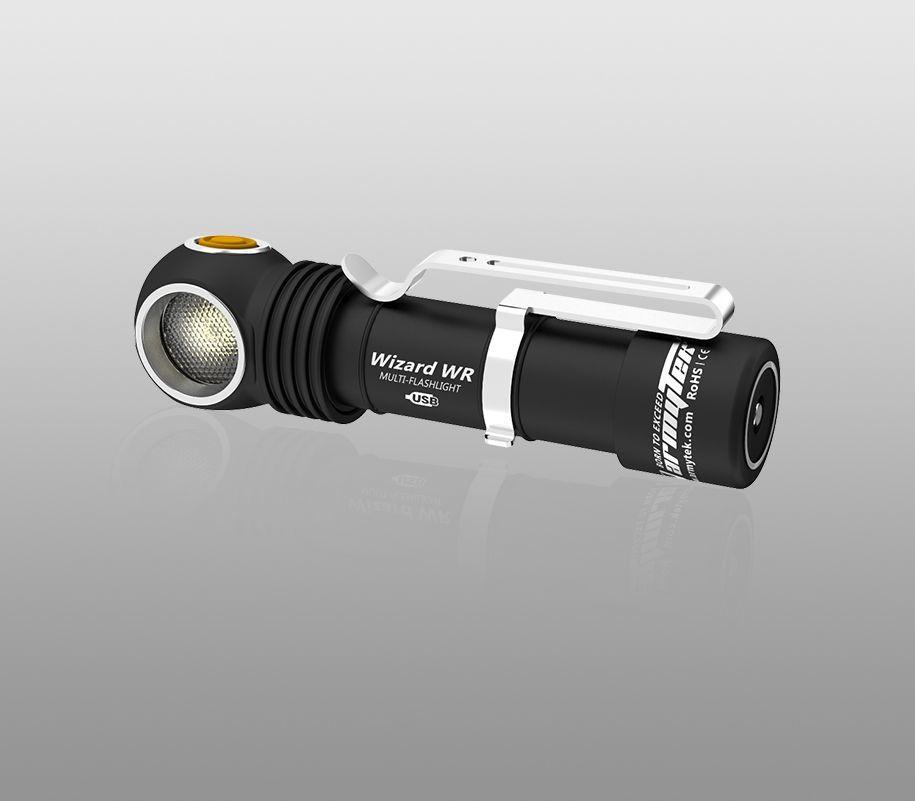Мультифонарь Armytek Wizard WR Magnet USB (белый-красный свет) - фото 4