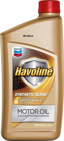 HAVOLINE SYNTHETIC BLEND 10W-30 моторное масло для бензиновых двигателей Chevron (1 литр)
