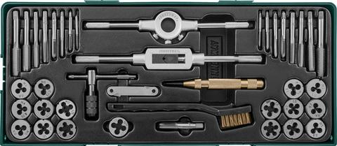 AG10001SP Набор метчиков и плашек с аксессуарами 40 предметов (ложемент)