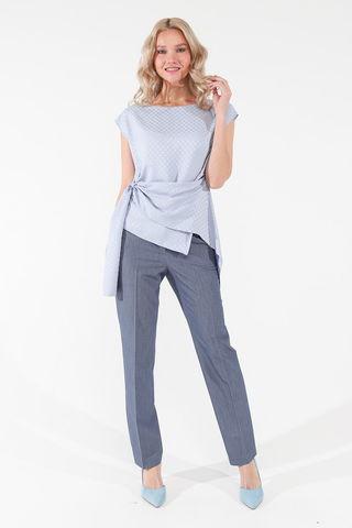 Фото классические прямые брюки цвета деним со стрелками - Брюки А500-127 (1)