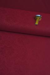 Ткань натуральная, жаккардовая, цвет красный