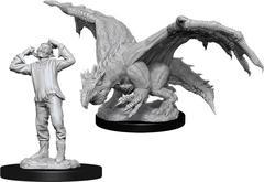 D&D Nolzur's Marvelous Miniatures - Green Dragon Wyrmling & Afflicted Elf