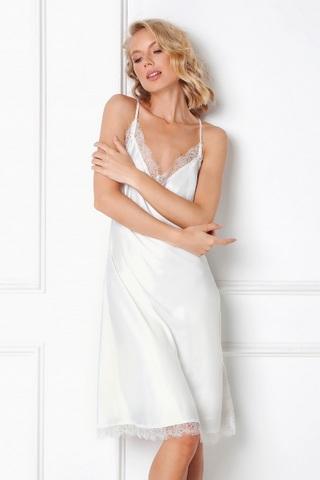 Ночная сорочка женская белого цвета ARUELLE BRENNA