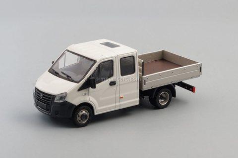 GAZelle Next GAZ A22R23 double cab white-gray 1:43 Nash Avtoprom